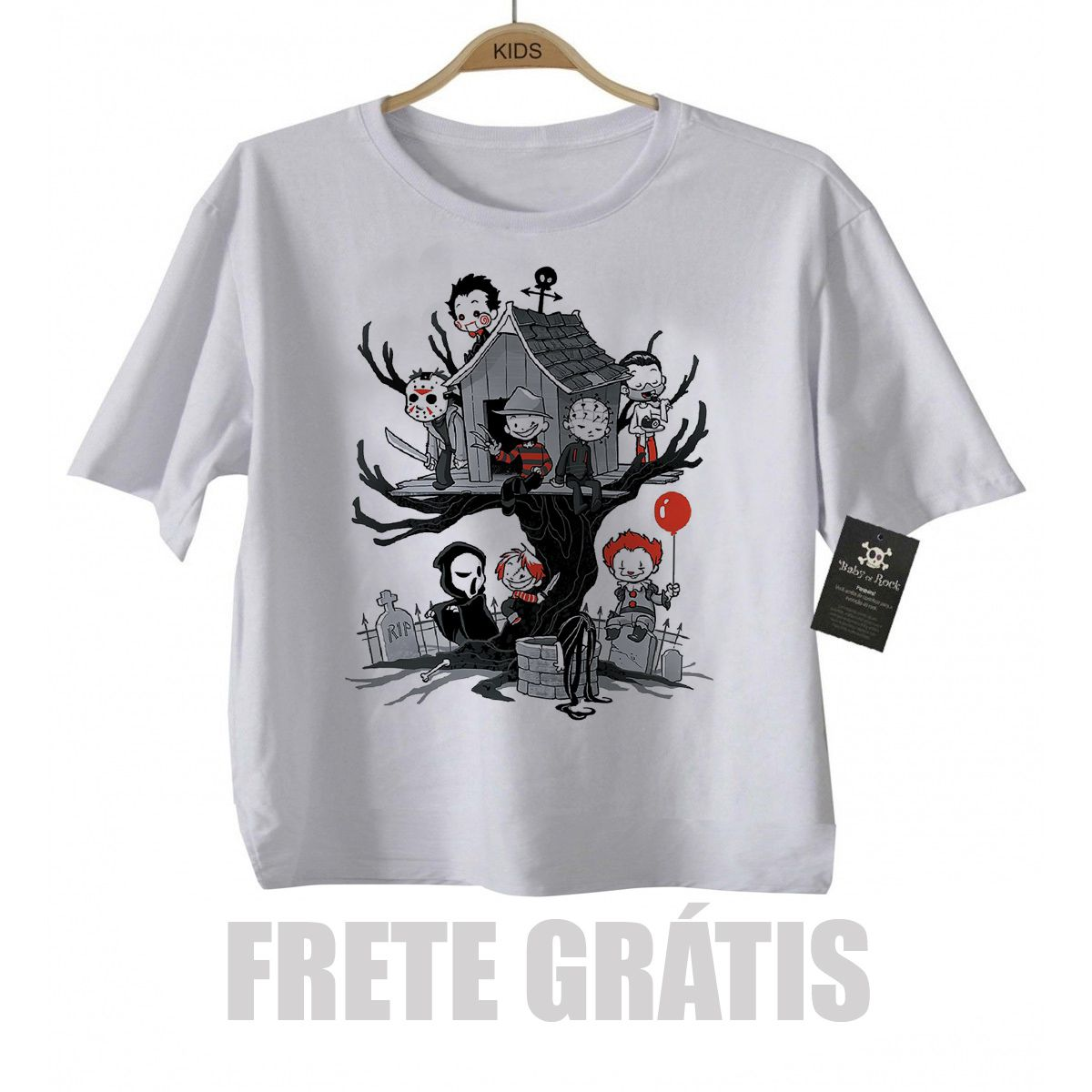Camiseta infantil  Terror Casinha na Arvore  - Baby Monster S/A