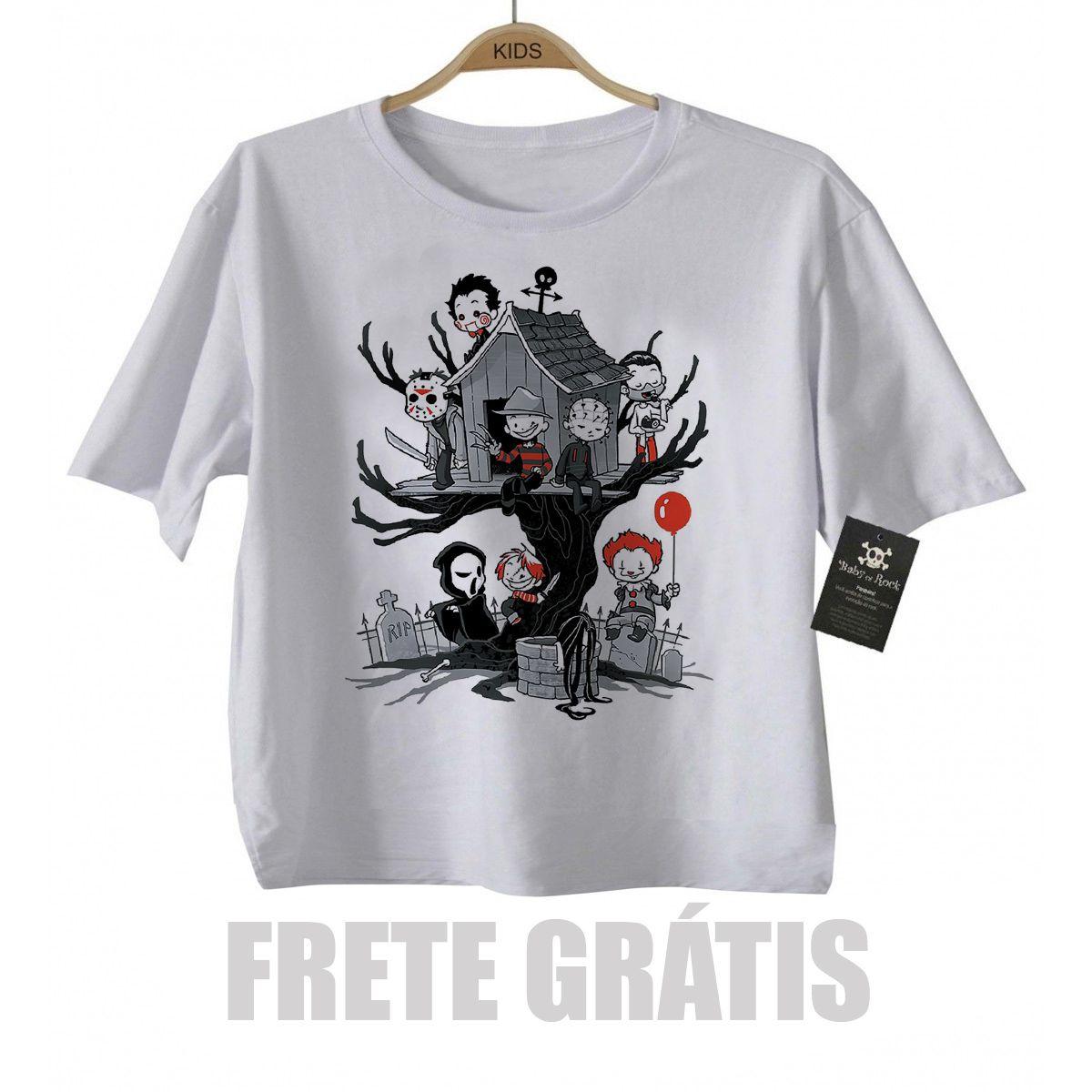 Camiseta infantil  Terror Casinha na Arvore  - Baby Monster - Body Bebe