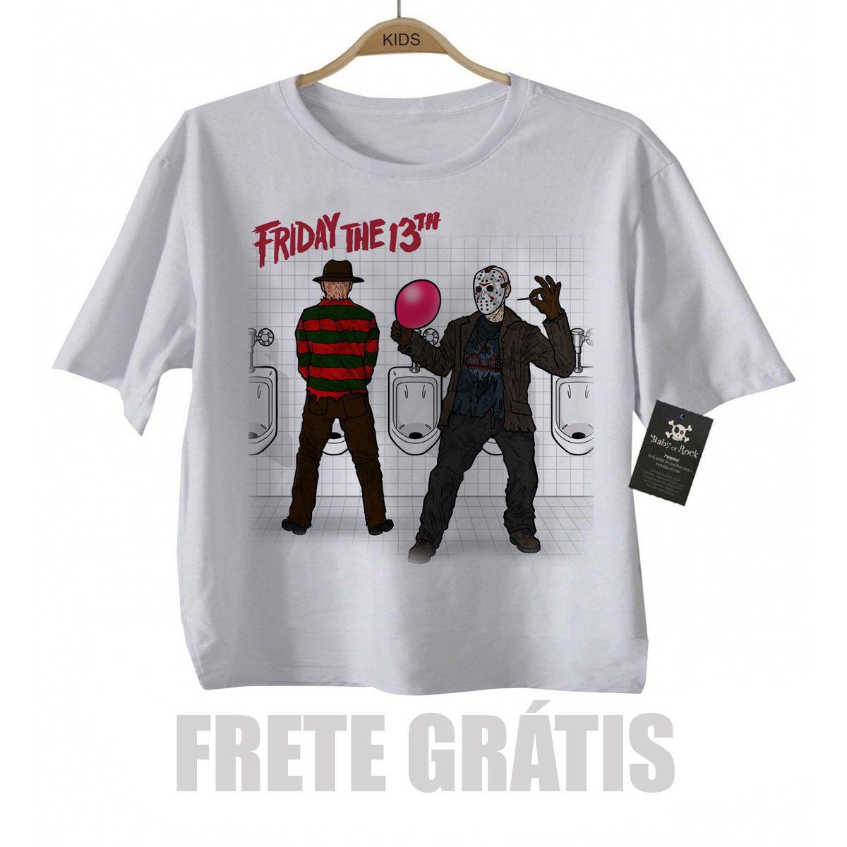 Camiseta Infantil terror - Sexta Feira 13 - White  - Baby Monster S/A