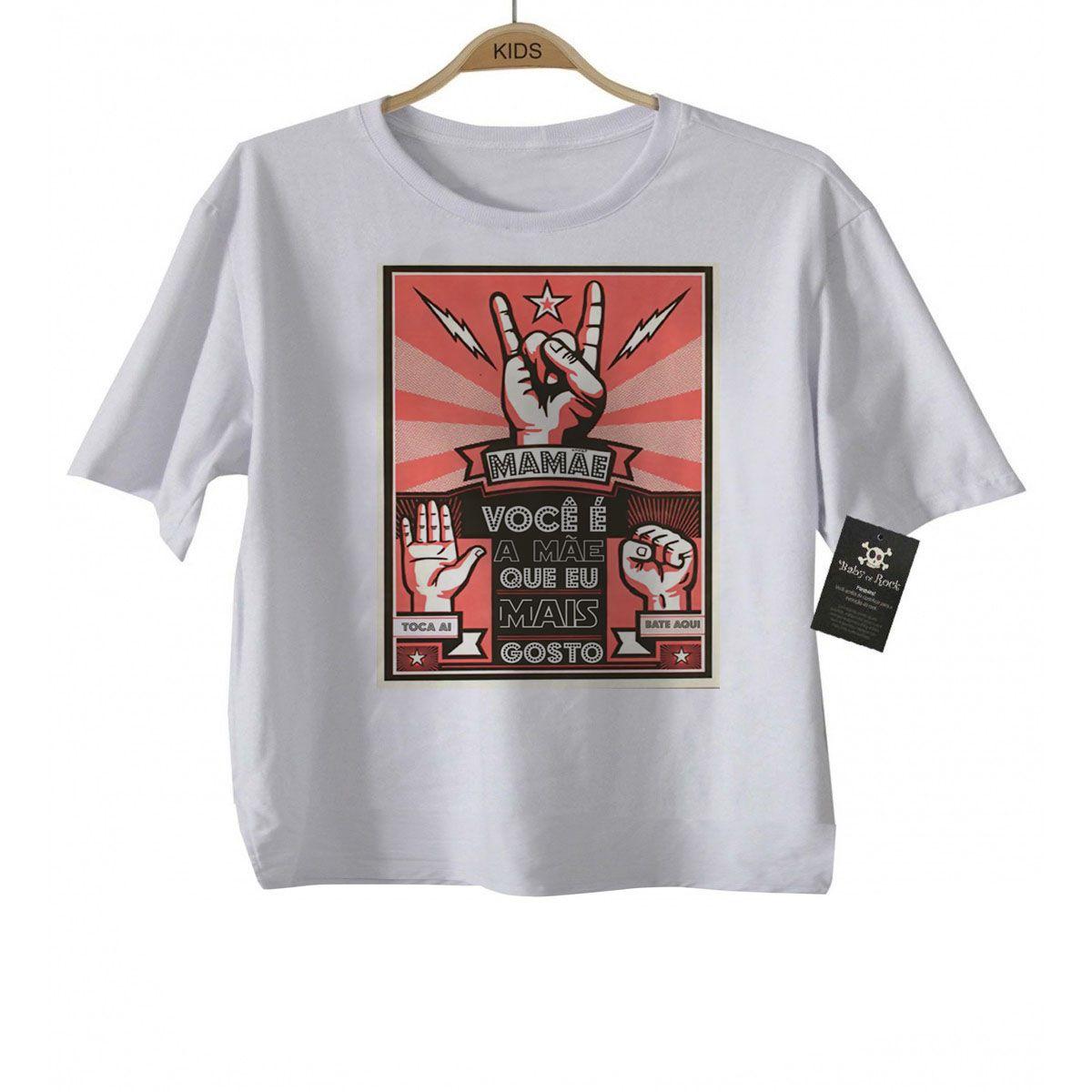 Camiseta Infantil  você é a mãe que eu mais gosto - White  - Baby Monster - Body Bebe