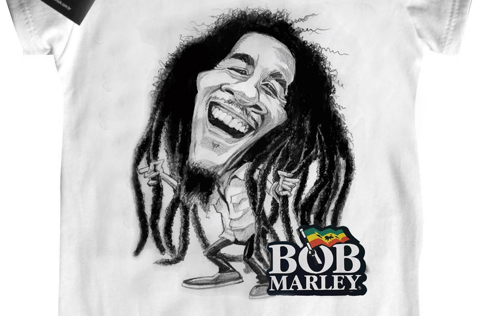 Camiseta Kids  Bob Marley - White  - Baby Monster S/A