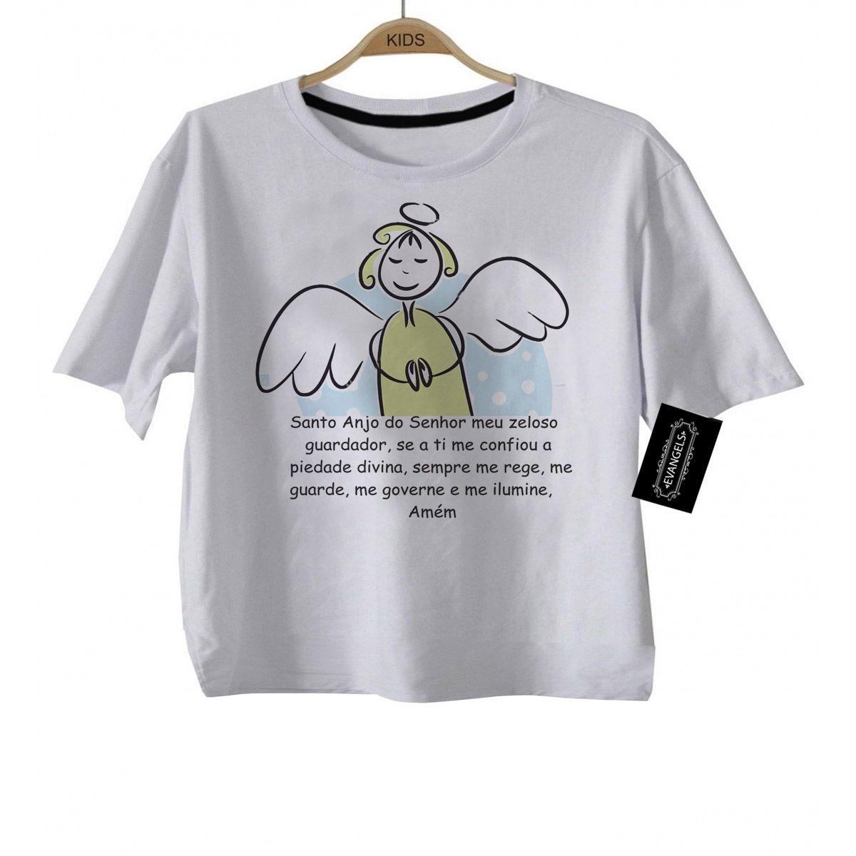 Camiseta Kids  Católica Santo Anjo - white  - Baby Monster - Body Bebe