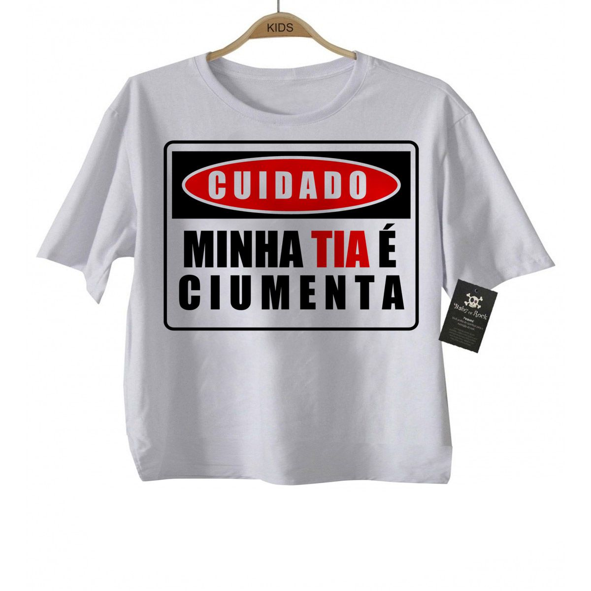 Camiseta Kids  Titia Ciumenta - White  - Baby Monster - Body Bebe