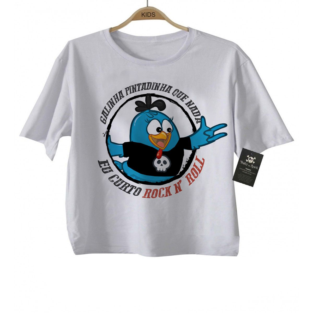 Camiseta Rock -  Galinha Pintadinha Rock N