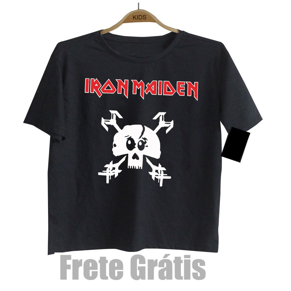 Camiseta Rock Infantil IRON MAIDEN - Skull - Black  - Baby Monster S/A
