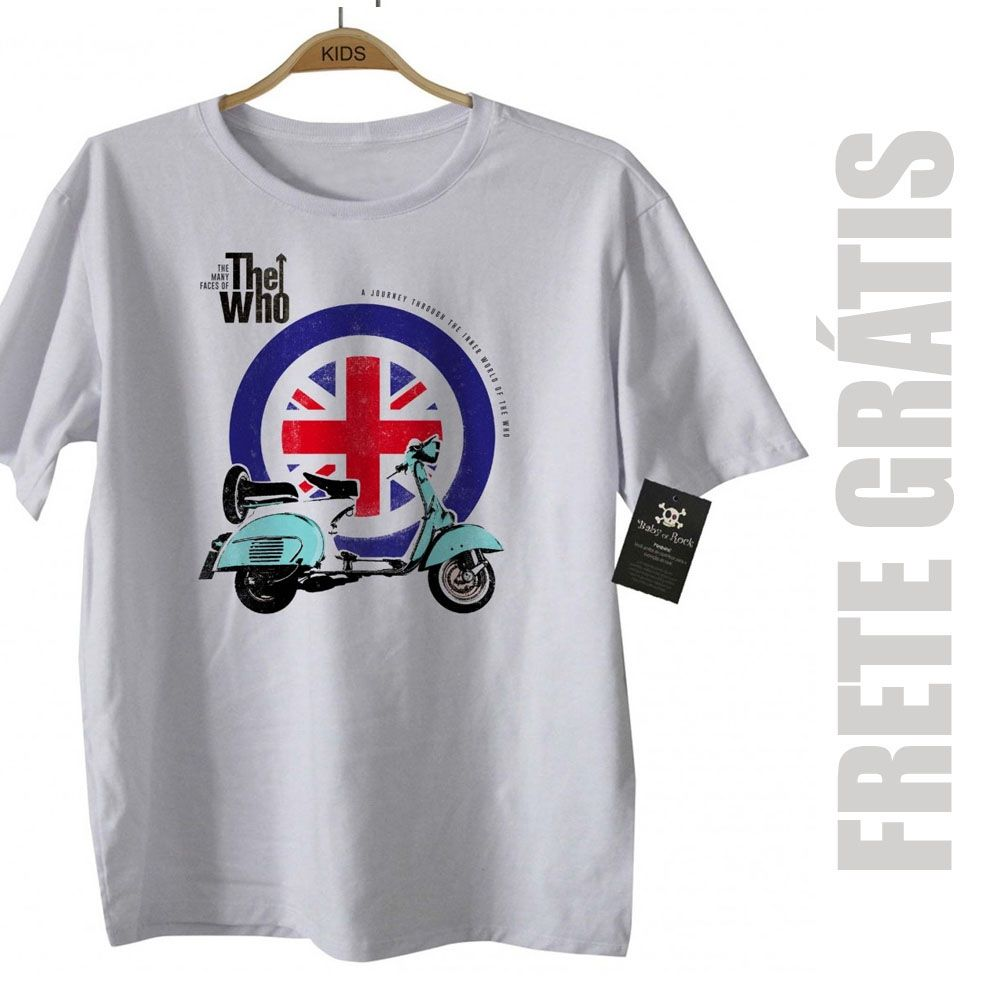 Camiseta Rock The Who - White  - Baby Monster S/A
