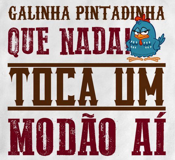 Camiseta Sertanejo Galinha Pintadinha Modão - White  - Baby Monster S/A