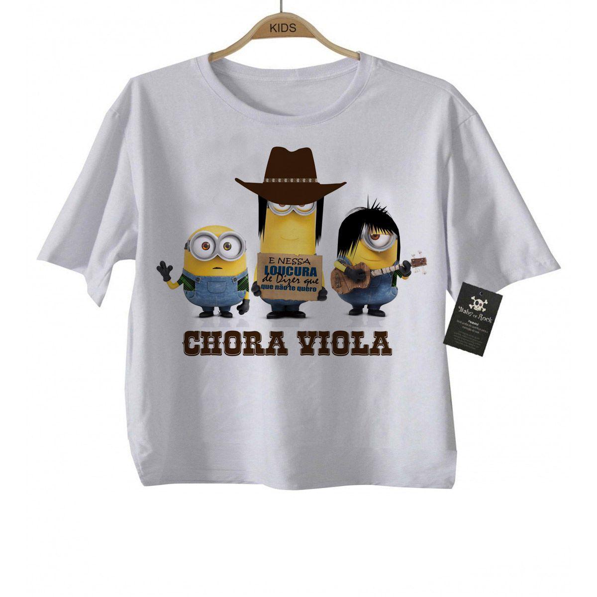 Camiseta Sertanejo Minions Evidências - White  - Baby Monster S/A