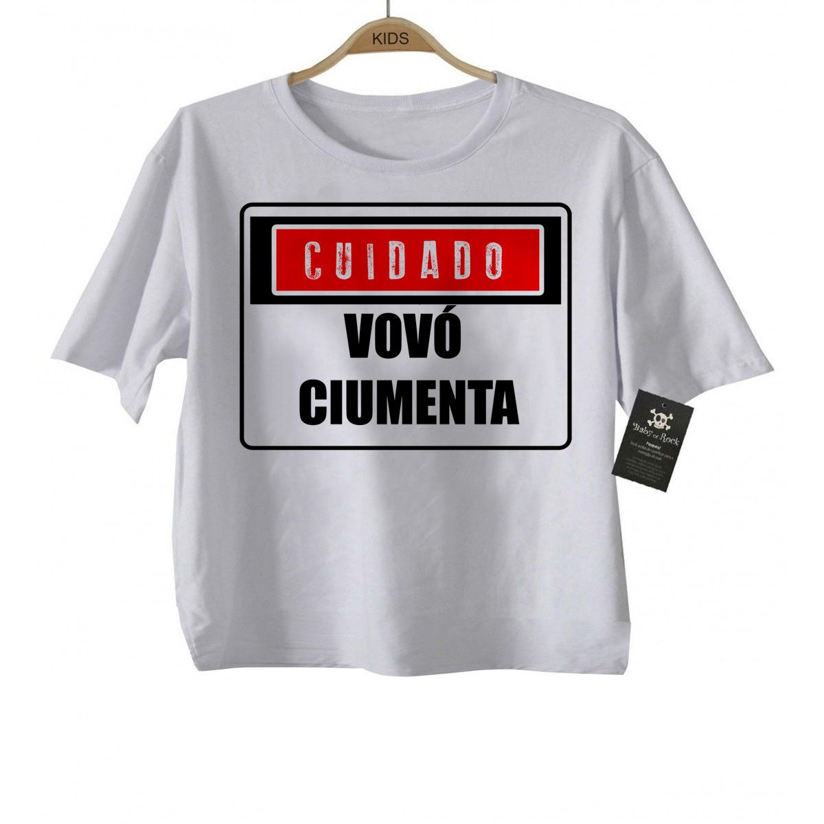 Camiseta  Vovo Ciumenta   - White  - Baby Monster - Body Bebe