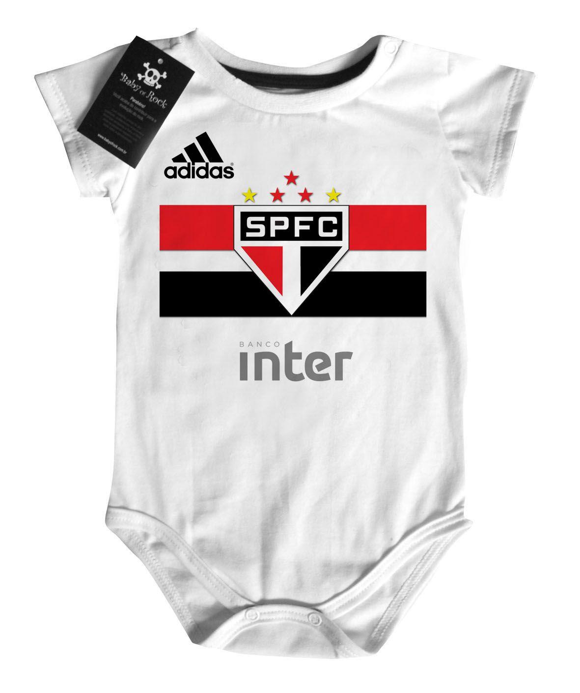 CÓPIA - Body Bebe de  São Paulo Futebol - Campeão  - Baby Monster - Body Bebe