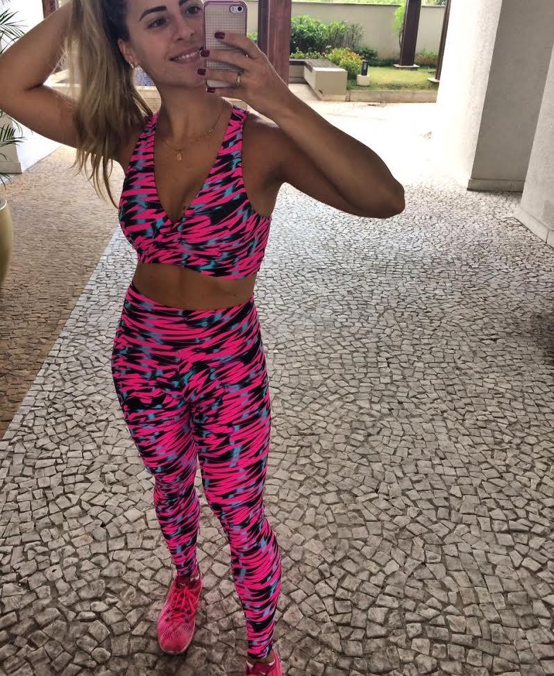 Legging e Top Nadador 012  - Cintura Carioca Moda Fitness