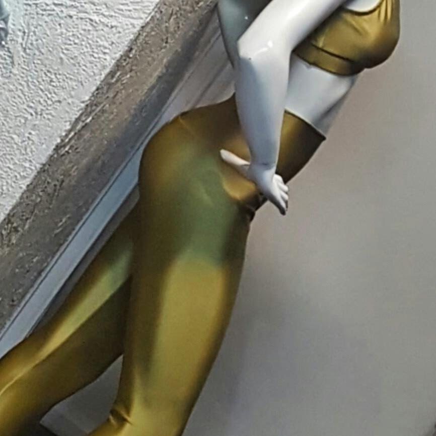 Conjunto Legging e Top Metalizada Ouro  - Cintura Carioca Moda Fitness