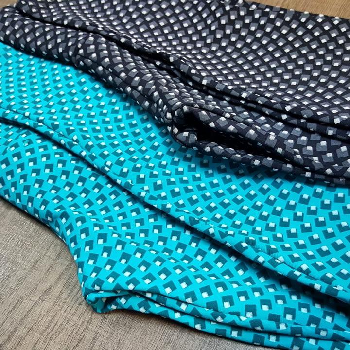 Calça De Ginastica Emborrachado Uva + Uvb Poliamida Turquesa  - Cintura Carioca Moda Fitness