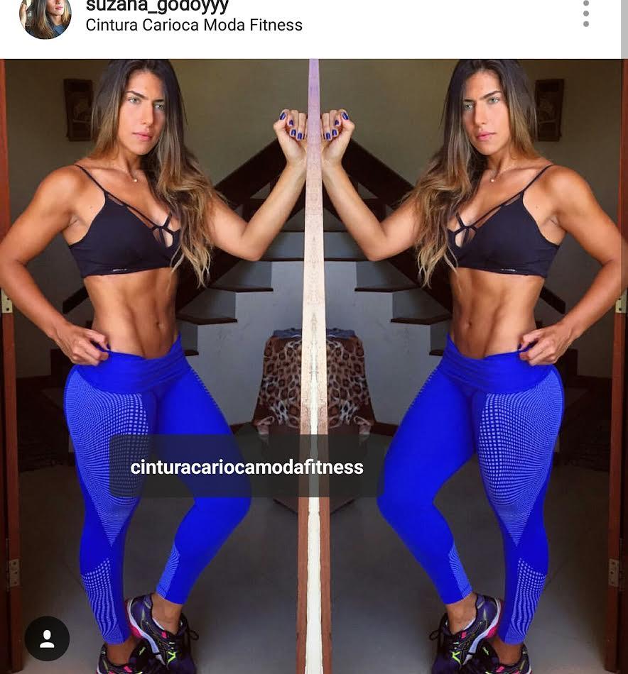 Legging Suplex Com Suplex emborrachado M ou G  - Cintura Carioca Moda Fitness