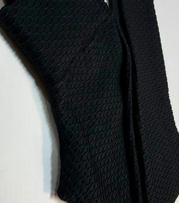 Legging Jacquard Preta  - Cintura Carioca Moda Fitness