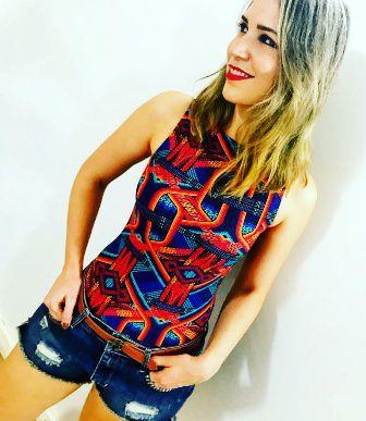 Body Trance Laranja  - Cintura Carioca Moda Fitness