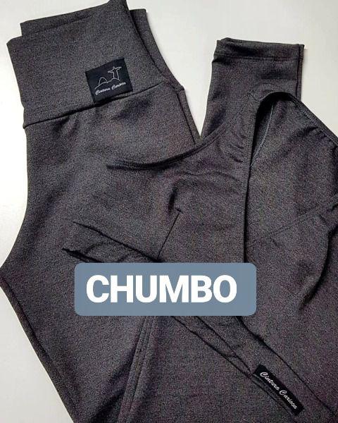 Conjunto Suplex Chumbo  - Cintura Carioca Moda Fitness