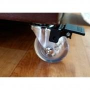 4 Rodinhas Silicone 50 mm Anti Risco Com Freio 200kg