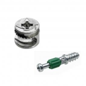 Tambor Bigfix (Minifix) 15x11 mm + Parafuso Twister (25 peças) - BigFer