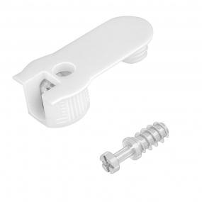 FBA45 16/19 Plástico c/ Parafuso 1/4x11mm (10 peças) Branco - FGVTN