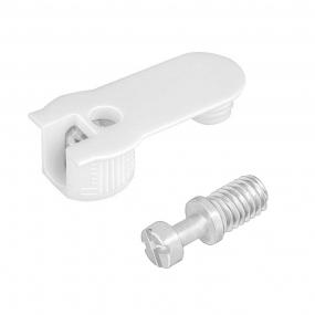 FBA45 Plástico c/ Parafuso Aço M6xM8mm Branco (10 peças) - FGVTN