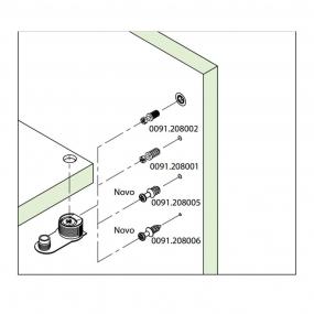 FBA45 Plástico 16/19 c/ Parafuso 1/4x11mm (10 Peças) Marrom - FGVTN