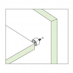 Suporte Prateleiras 10x15mm Branco (20 peças) - FGVTN