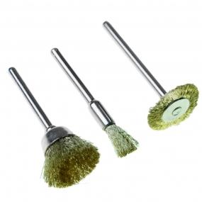 Acessórios para Micro Retífica com 3 Escovas de Bronze - Black Jack
