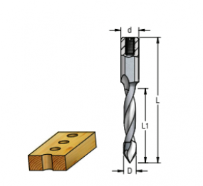 Broca Sistema Combinado - Fp - D5Mm - Esquerda (25L1 X 57,5L -D10) DDT05577L - Wpw