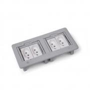 Caixa de Embutir ABS 4BI Cinza - com 4 Blocos - Dutotec/Qtmov