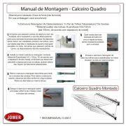 Calceiro Deslizante Quadrado Cromado c/ 12 Varetas 8043 - Jomer