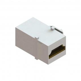 Conector Emenda Hdmi 1.3 F/F Branco Pad Keystone - Dutotec