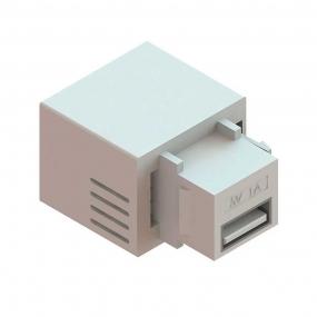 Conector Usb Charger 5V 2.1A Branco Padrao Keystone - Dutotec