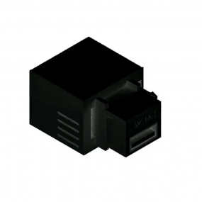 Conector Usb Charger 5V 2.1A Preto Padrao Keystone - Dutotec