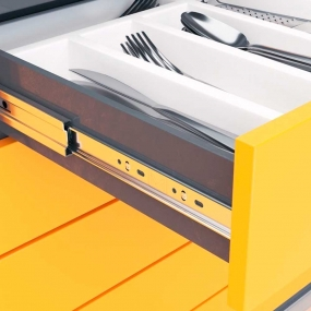 Corredica Push Open 450mm - Metalnox