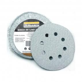 Disco Velcro Branco 150Mm Grão 120 (Kit 10 Unidades)  - Starfer