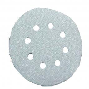 Disco Velcro Branco 150Mm Grão  80 (Kit 10 Unidades)  - Starfer