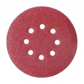 Disco Velcro Vermelho 125Mm  60 (Kit 10 Unidades) - Starfer