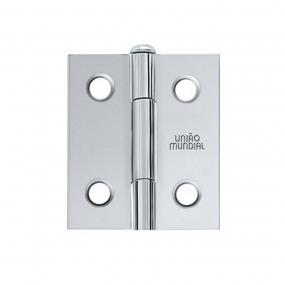 Dobradiça Aço 1 1/2 X 1 5/16 Cromado (022704) - União