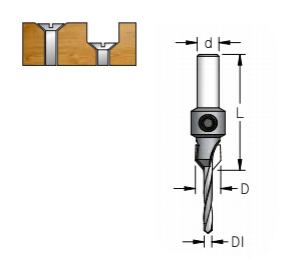 Escareador 9,5mm Broca 3,2mm - H8/44 AC03215D - Wpw