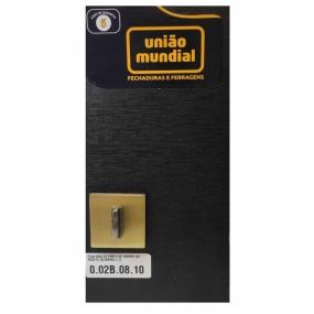 Fechadura Maquina 45 Porta De Correr Wc Roseta Quadrada Latão Oxidado (002b0810) - União