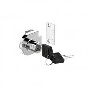 Fechadura P/Vidro 1 Porta C/Puxador 180 - 0408 Cromado - Soprano