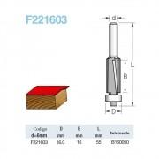 Fresa Reta com Rolamento Corte Descendente 16mmx16mm -Haste 6 F221603 - Wpw