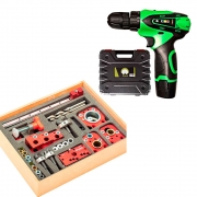 Gabarito Combo Top Zinni + Parafusadeira 12v 2 Baterias - Hagra