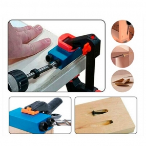 Gabarito Furação 45º Pocket Hole Jig com Bit Philips Longo e Brocas - Tekton