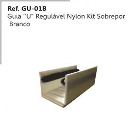 GUIA U REGULAVEL EM NYLON BRANCO GU-01B - PERFIL