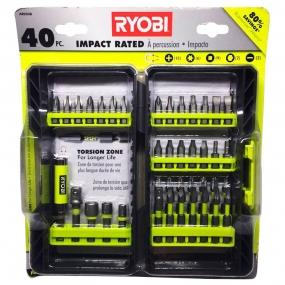 Jogo de Pontas Magnéticas de Alto Impacto c/ Estojo (40 pçs) - Ryobi