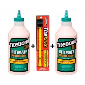 Kit 2 Titebond III  + Pincel Tite Brush
