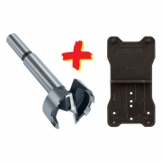 Kit Gabarito de dobradicas e Broca FORSTNER 35mm - 872800 - Wolfcraft