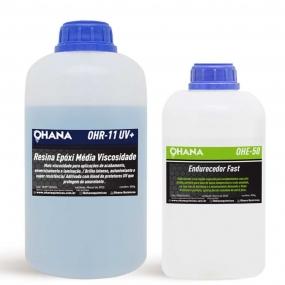 Kit Sistema Fast  500g de Resina + 250g de Endurecedor - Ohana